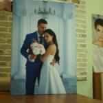 Широкоформатное свадебное фото